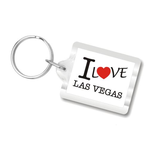 I Love Las Vegas Plastic Key Chain, I Heart Las Vegas