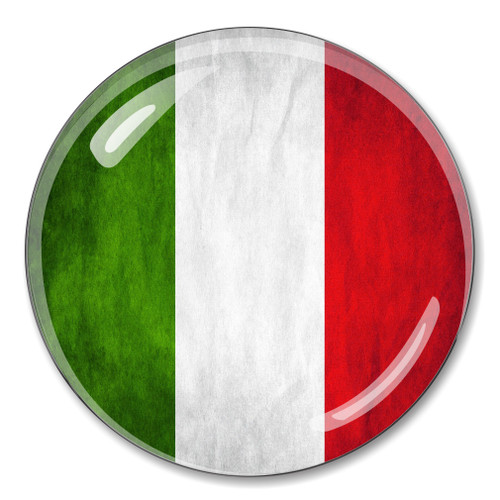 Italian Flag Crystal Paperweight