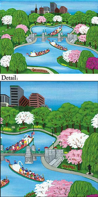 Boston's Swan Boat Note Cards