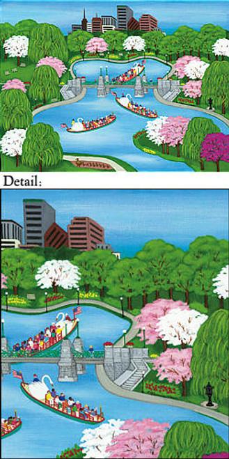 Boston's Swan Boat Note Cards