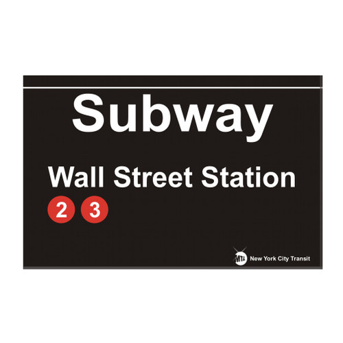 Wall Street Station Subway Magnet