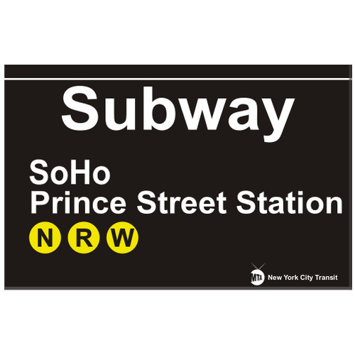 SoHo Replica Subway Sign
