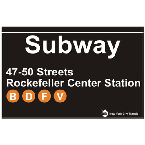 Rockefeller Center Replica Subway Sign