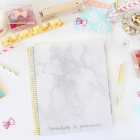 Bloom Daily Planners - Undated Teacher Planner - Marble