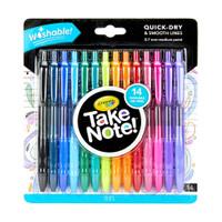 Crayola Take Note! Washable Gel Pens - Set of 14
