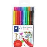 Staedtler - Triplus Broadliner Pens - Set of 20