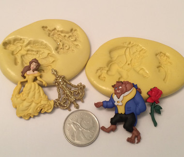 Beauty And The Beast Silicone Mold Set Christines Molds