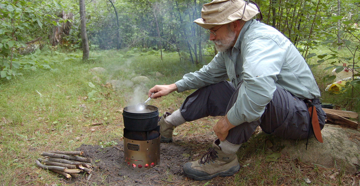 Using a Wood Backpack Stove & Being Aware of Ticks