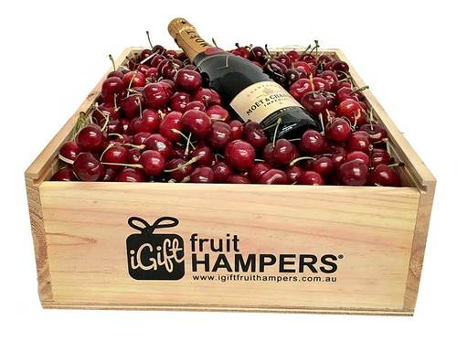 Cherry Hamper +Champagne