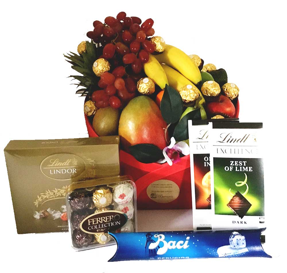 Fruit basket luxury fruit baskets for all occasions igift pty ltd fruit chocolate baskets negle Image collections