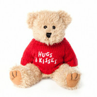 "Message Bear - ""Hugs & Kisses"""