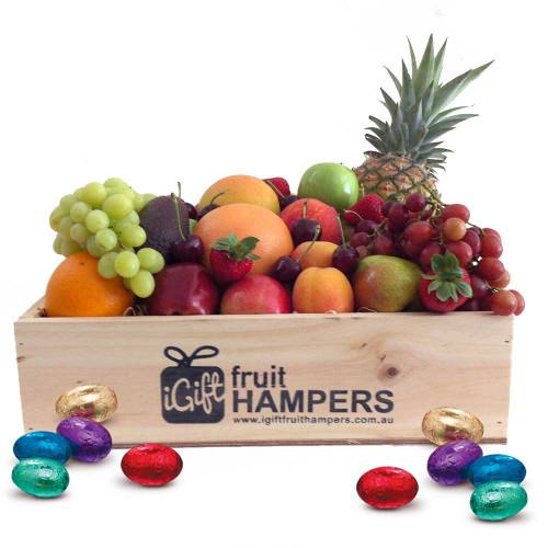 Easter Fruit Hamper - Medium with Easter Eggs