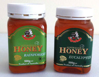 Australian Rainforest Honey 500g + Australian Eucalyptus Honey 500g