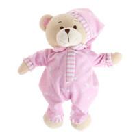 It's a girl baby gift teddy bear in pyjamas