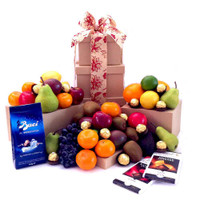Fruit Hamper Tower Chocolate Deluxe Gift - Free Shipping