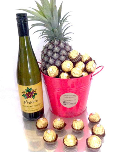 Gift Bucket + Chocolates + Sparkling Honey Nectar