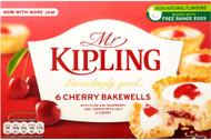 Mr Kipling Cherry Bakewells Pack of 6