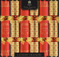 Tom Smith's Red & Gold Luxury Crackers 6 Pack