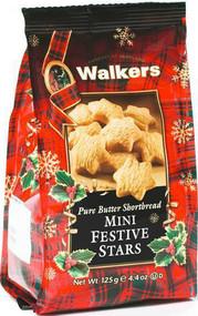 Walkers Mini Shortbread Festive Stars 125g