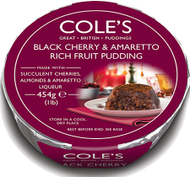 Coles Black Cherry And Amaretto Rich Fruit Pudding 454g