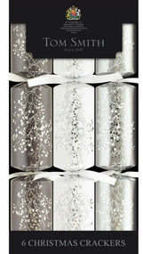 Tom Smith Silver & White Cube Crackers 6 Pack