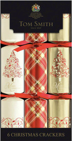 Tom Smith Red & Gold Foliage Cube Crackers 6 Pack