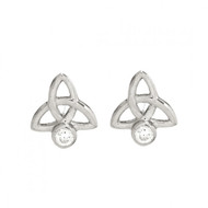 Celtic Trinity Knot Stud Earrings