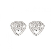 Celtic Heart Shaped Knot Earrings