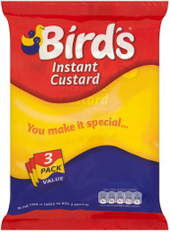 Birds Instant Custard 3 x 75g Sachets Triple Pack