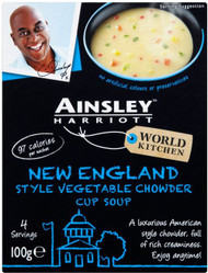 Ainsley Harriott 3 Pack Cup Soup - Vegetable Chowder 100g