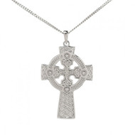 Small Celtic Cross Pendant With Chain