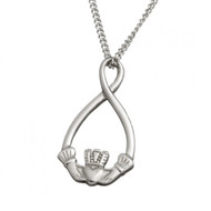 Claddagh Loop Pendant With Chain