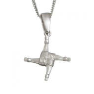 Small St.Bridget Cross Pendant With Chain