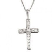 Claddagh And Cross With Chain