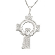 Claddagh Celtic Cross Pendant on a chain