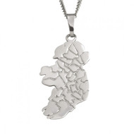 Map of Ireland Pendant And Chain