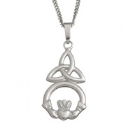 Celtic Trinity And Claddagh With Chain