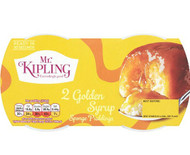 Mr Kipling Sponge Pudding Twin Pack - Golden Syrup 108g