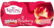 Mr Kipling Sponge Pudding Twin Pack - Raspberry 108g