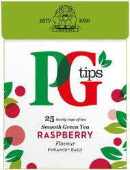 PG Green Tea 25 Pack - Raspberry