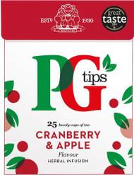 PG Fruit & Herbal Tea 25 Pack - Cranberry & Apple