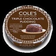 Coles Triple Chocolate Christmas Pudding 300g