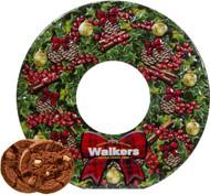 Walkers Wreath Chocolate Shortbread Tin 350g