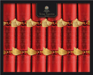 Tom Smith Red Embossed Wide Barrel Crackers 6 Pack