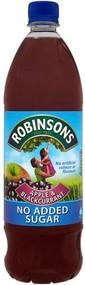 Robinsons Apple & Blackcurrant Squash 1 Ltr - No Added Sugar