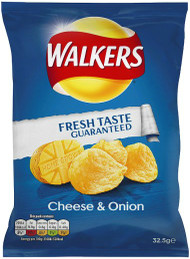 Walkers Crisps Cheese and Onion 12 Pack
