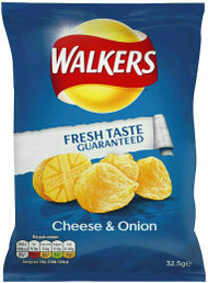 Walkers Crisps Cheese & Onion - Case of 32