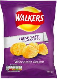 Walkers Worchester Sauce Crisps - Case of 32