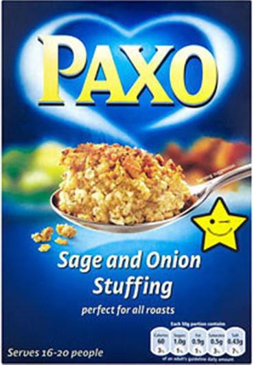 Paxo Sage & Onion Stuffing Large Box 380g