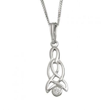 Celtic Drop Pendant With Chain